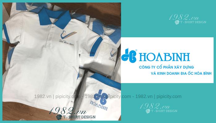 mẫu áo đồng phục công ty Hòa Bình