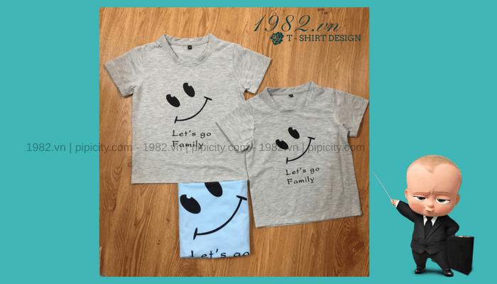 mẫu áo thun in trẻ em