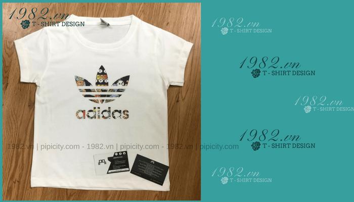 áo in trẻ em Adidas