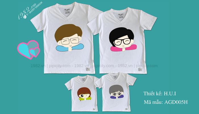 mẫu áo thun gia đình