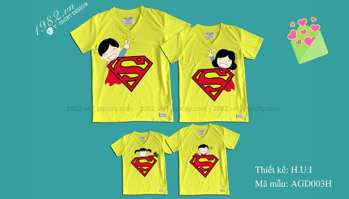 áo gia đình super man