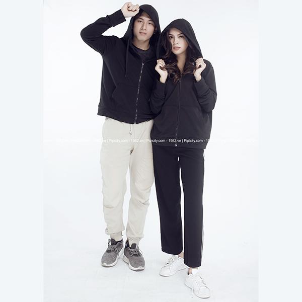 áo khoác đôi đen