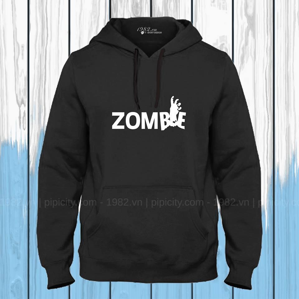 áo thun hoodie zombie