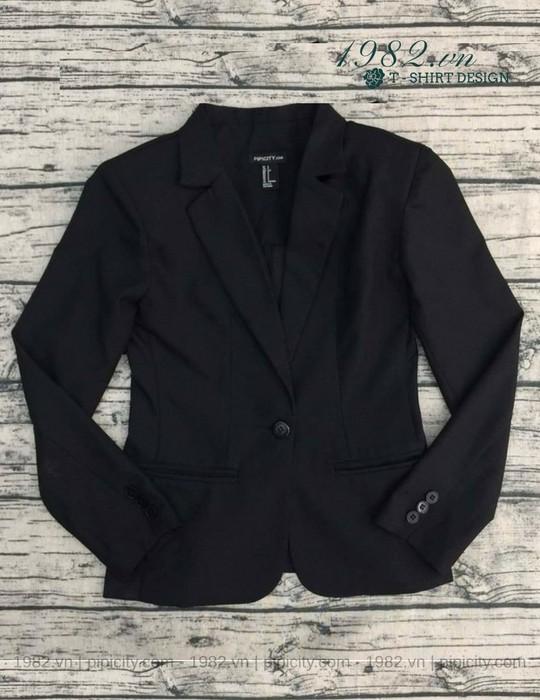 áo khoác vest màu đen