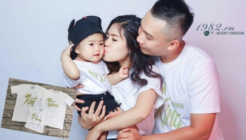mẫu áo gia đình